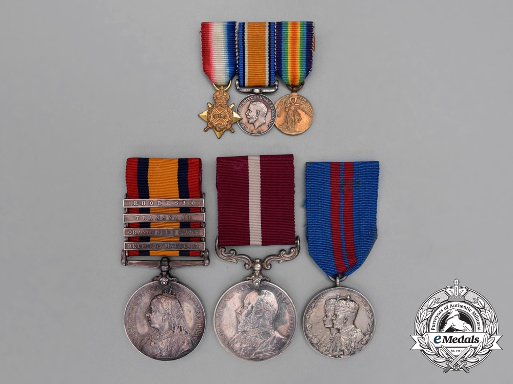 eMedals-A Rare Canada Colonial Long Service Medal Group to 1916 KIA