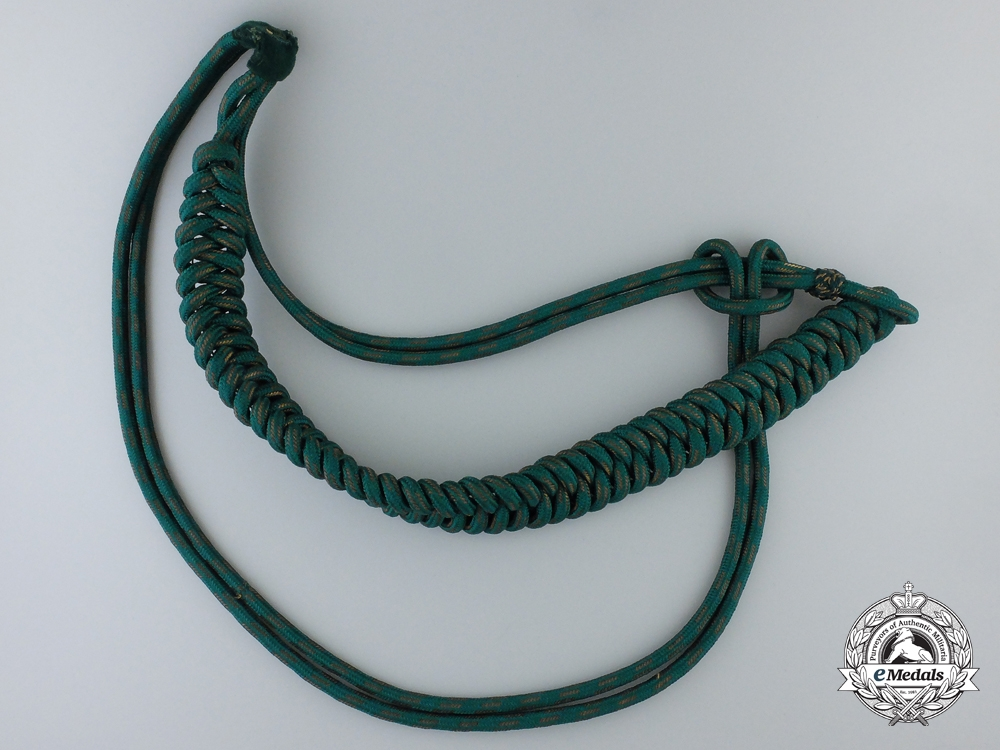 eMedals-A German Forestry Officer's Aiguillette