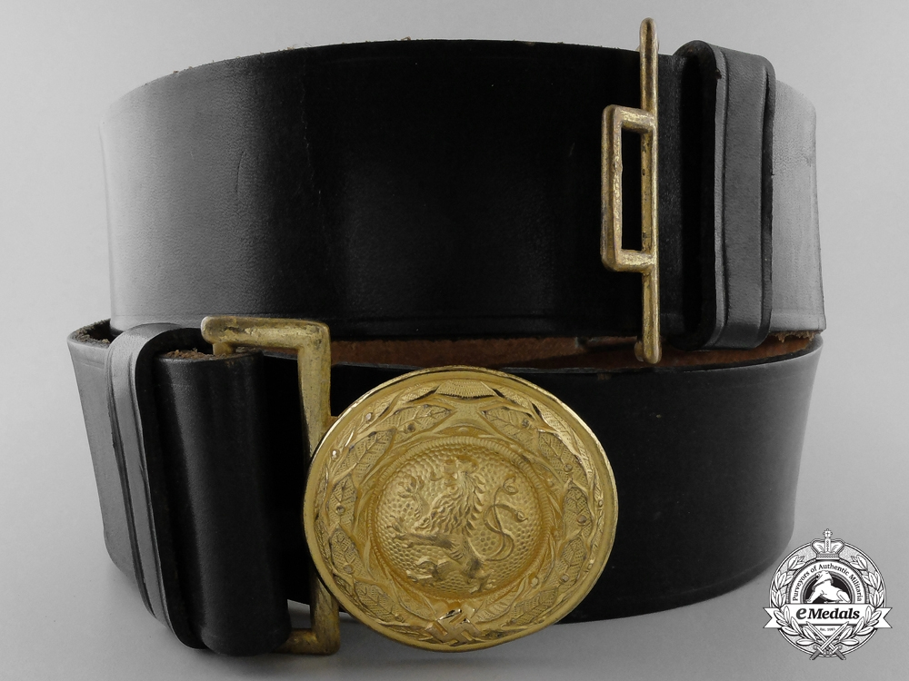 eMedals-A Bavarian State Forestry Official's Belt & Buckle