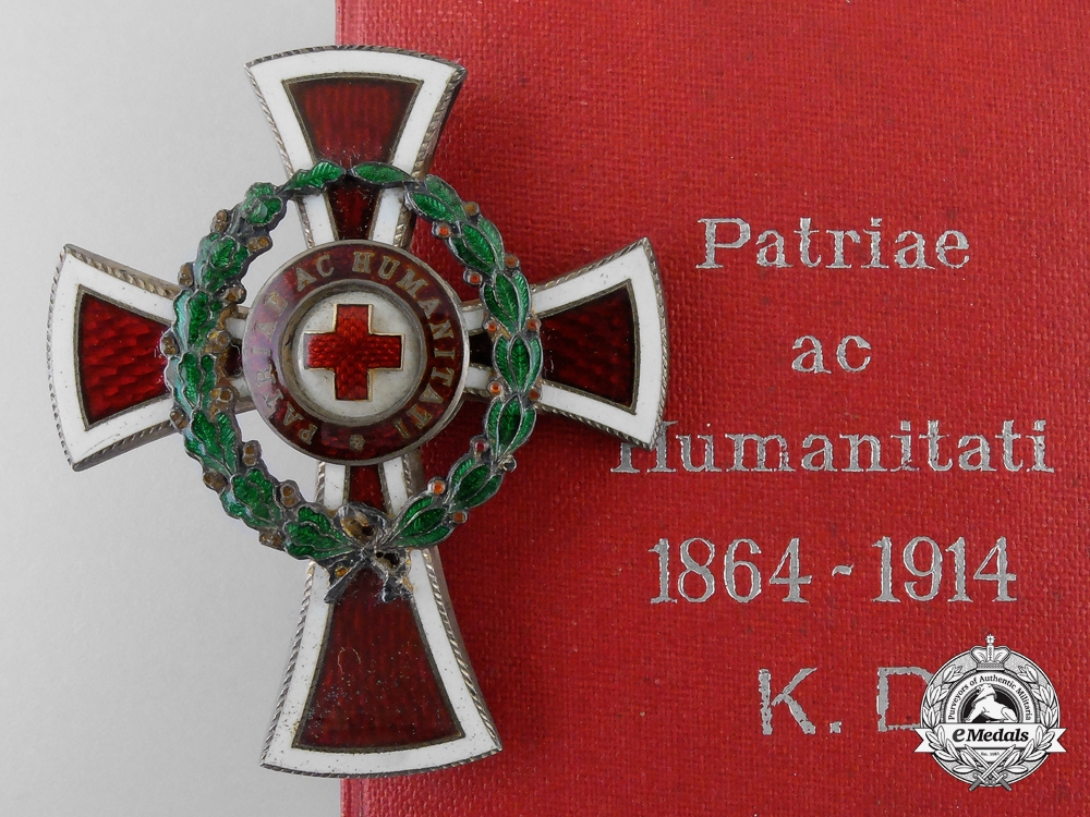 eMedals-An Austrian Red Cross Officer's Decoration 1864-1914