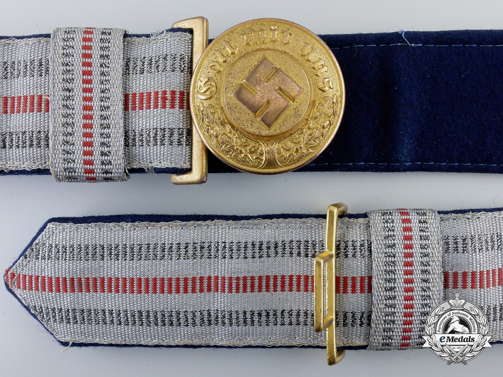 eMedals-A German Police General's Buckle with 1st Pattern Brocade Dress Belt