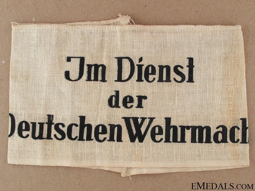 eMedals-Im Dienst der Deutschen Wehrmacht Armband