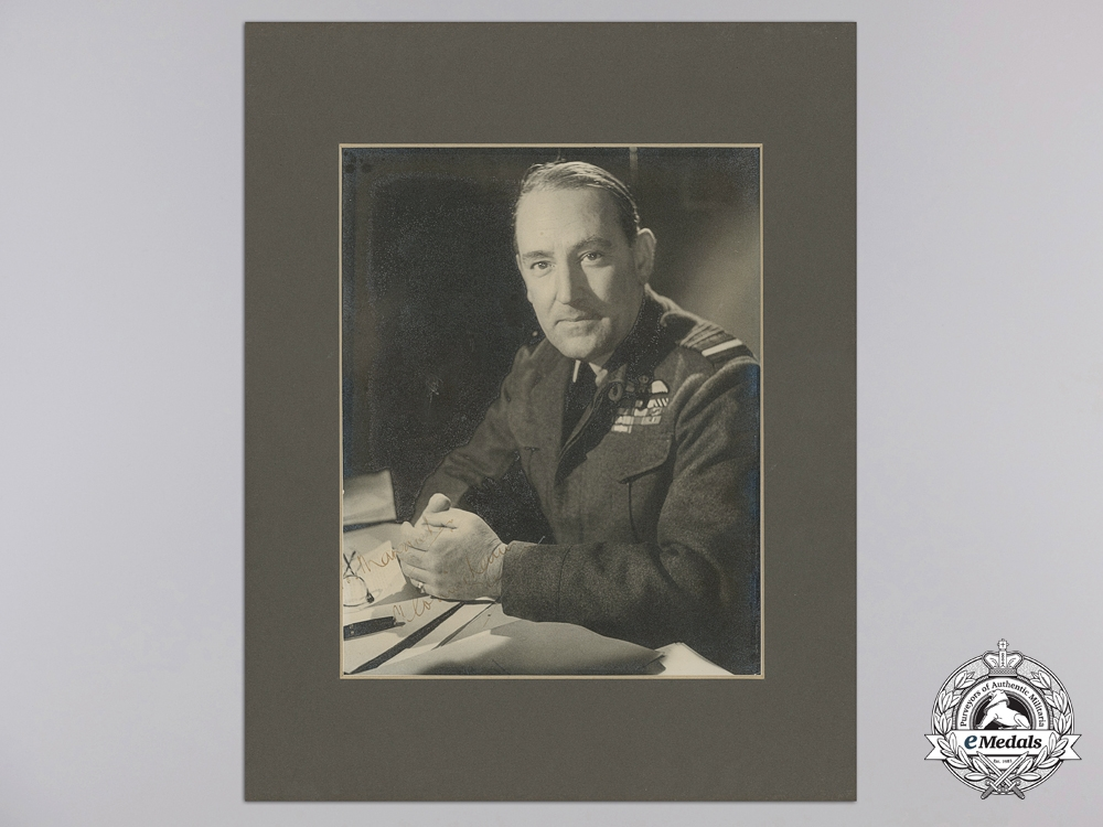 eMedals-An Early Second War RAF Signed Officer's Portrait of Air Marshal Sir Arthur Coningham