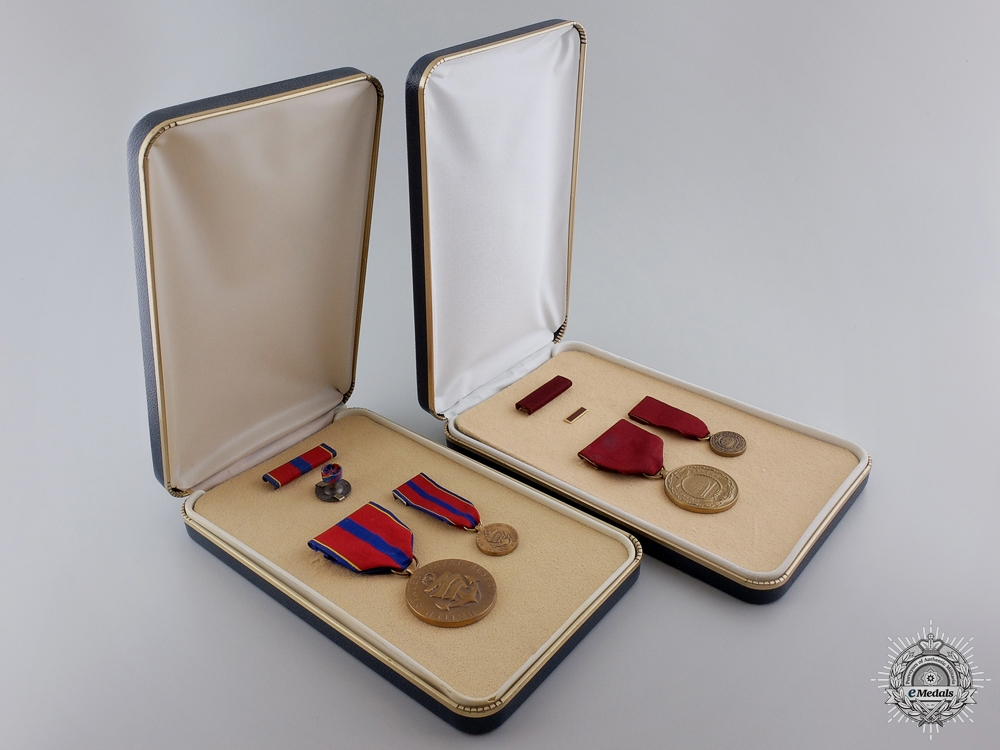 eMedals-Two American Merit Medals with Case