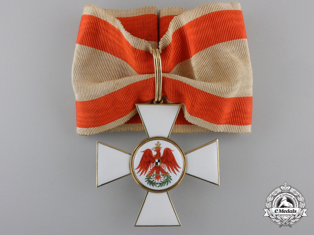 eMedals-A Prussian Red Eagle Order; Second Class Cross in Gold by Godet, Berlin