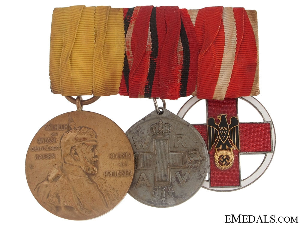 eMedals-Imperial & WWII Medal Bar with Three Awards