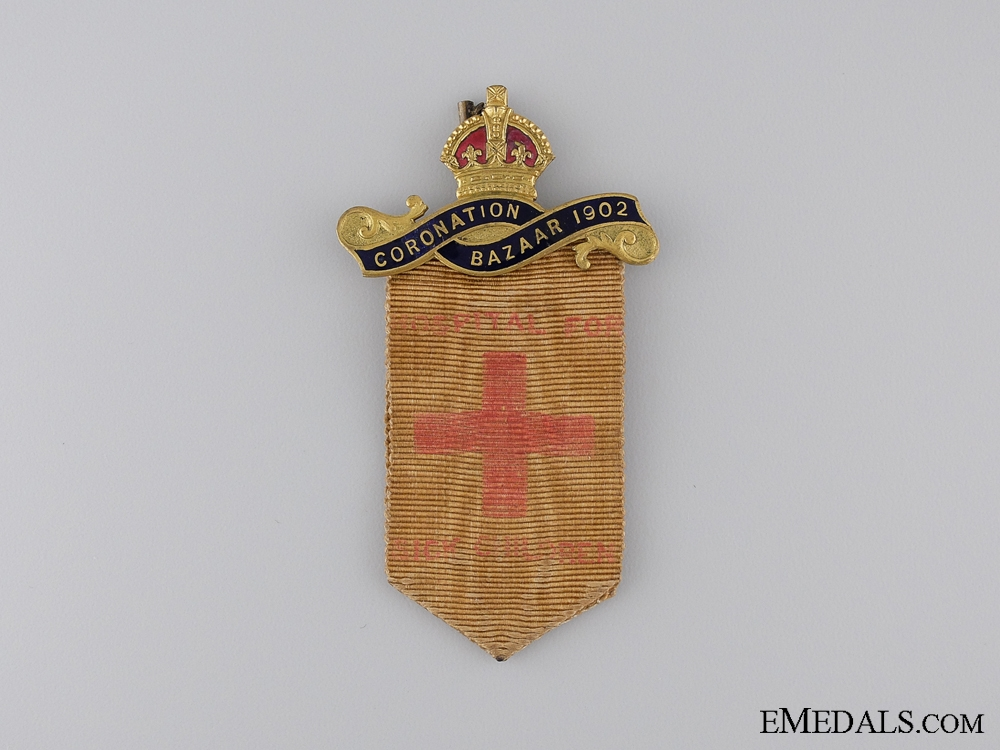 eMedals-Imperial Own Coronation Bazaar Hospital for Sick Children Badge