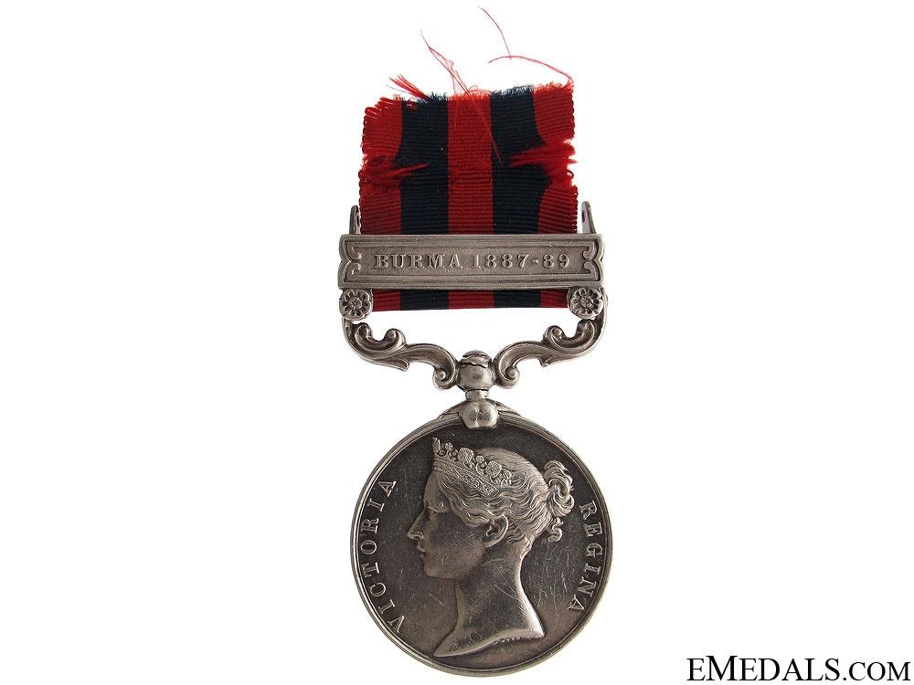 eMedals-India General Service Medal 1854 - 2nd Lieut.
