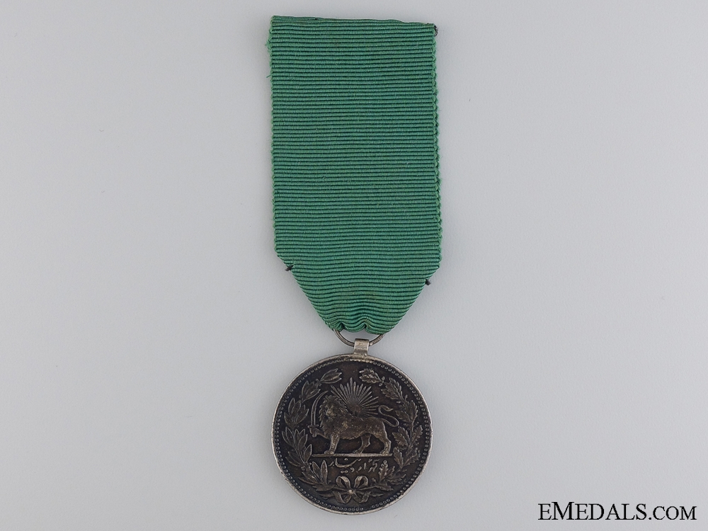 eMedals-Iranian Mounted 5000 Dinars Coin 1902 (1320)