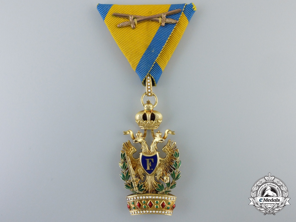 eMedals-An Austrian Order of the Iron Crown in Gold by  Rozet & Fischmeister