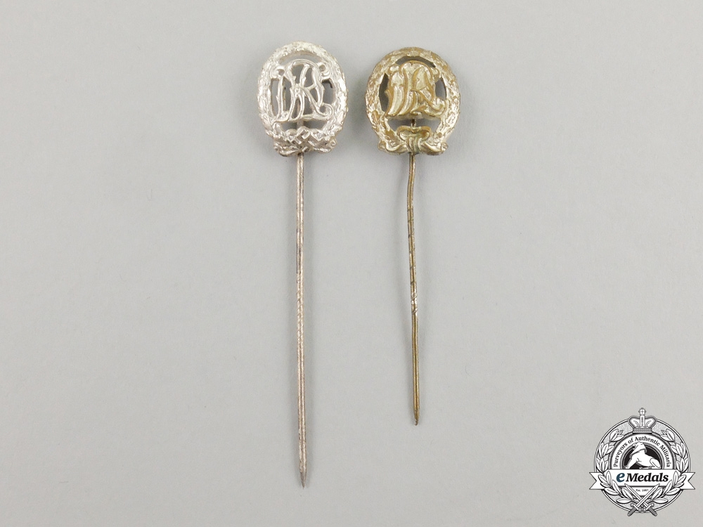 eMedals-Two DRL Silver Grade Sports Badge Miniature Stick Pins
