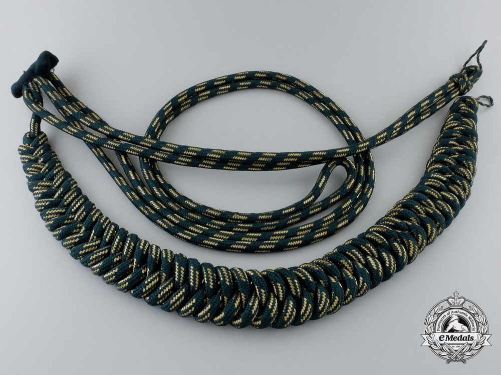 eMedals-A German State Forestry Official's Aiguillette