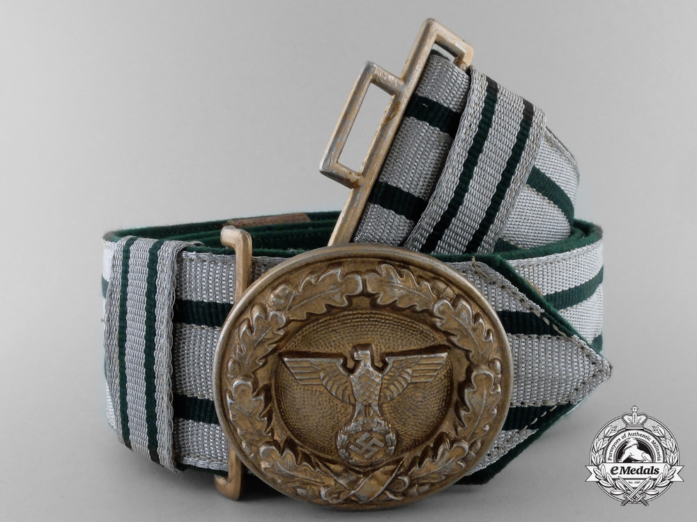 eMedals-A German National Forestry Service Official's Brocade and Buckle for Oberlandforsmeister