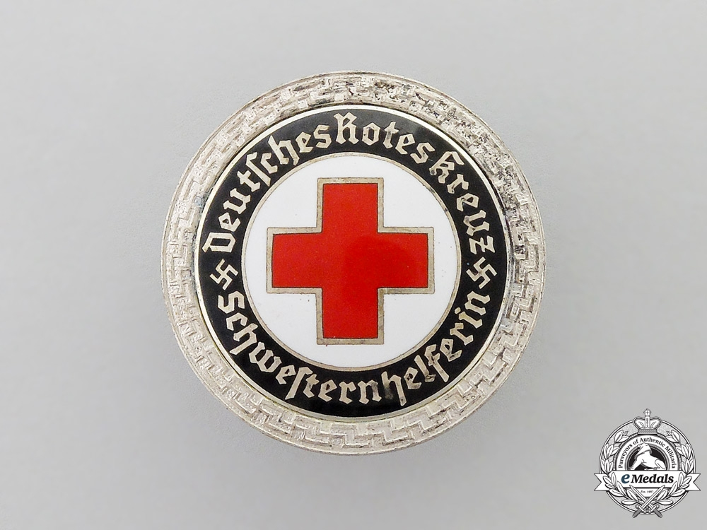 eMedals-A Third Reich Period German DRK (German Red Cross) Nurse's Assistant Brooch