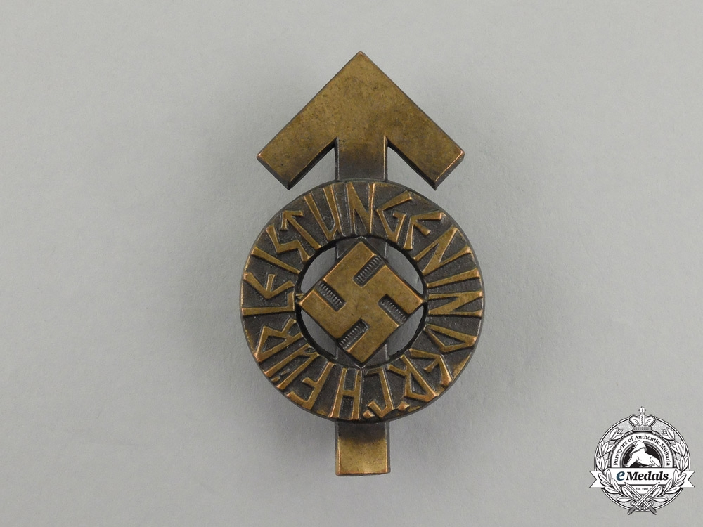 eMedals-A Bronze Grade HJ Proficiency Badge by Berg & Nolte; Numbered