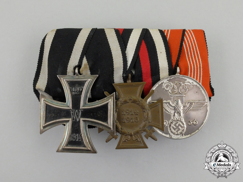 eMedals-  A First and Second War German Olympic Games Medal Bar