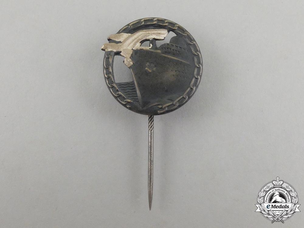 eMedals-A Second War German Kriegsmarine Blockade Runner Badge Miniature Stick Pin