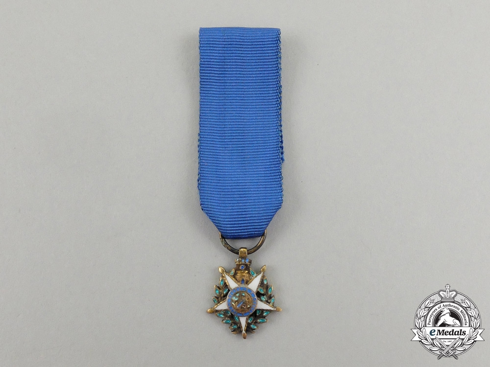 eMedals-Portugal, Kingdom. A Military Order of the Tower and Sword, Miniature, c.1900