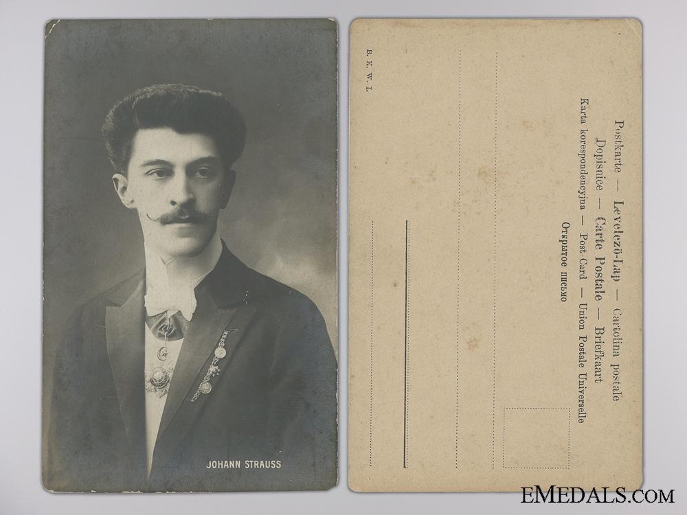 eMedals-Johann Strauss II with Turkish Awards Postcard