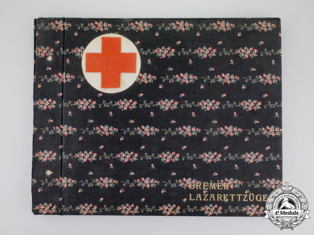 eMedals-A Unique First War German Red Cross Hospital Train Photo Album
