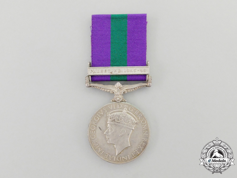eMedals-A 1918-1962 General Service Medal to PTE. T.Manyele