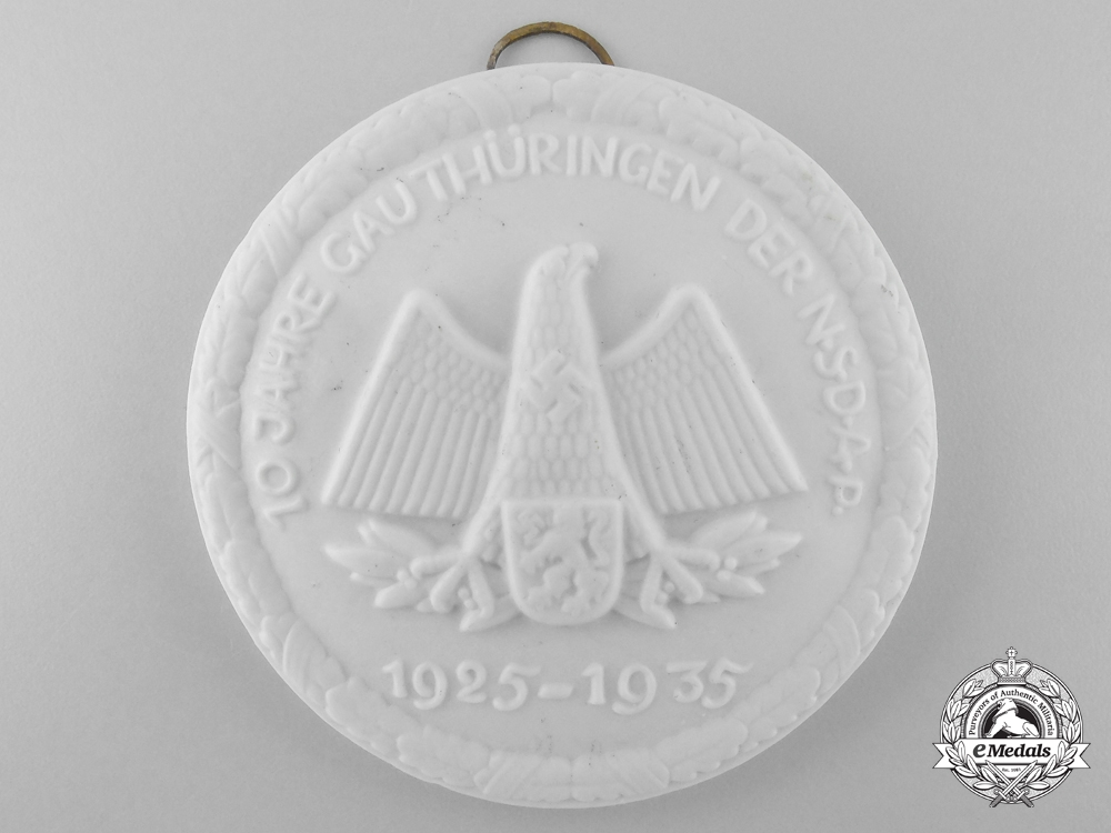 eMedals-Germany. A 10th Anniversary of the NSDAP in the Thüringen District Award