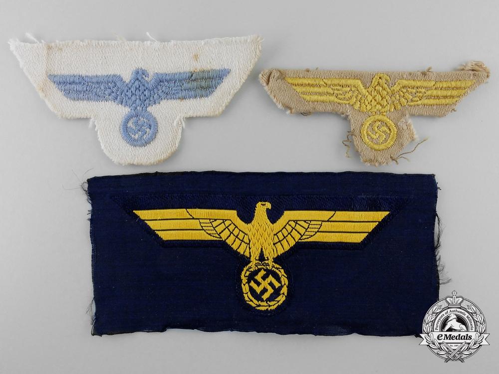 eMedals- Three Kriegsmarine Eagles