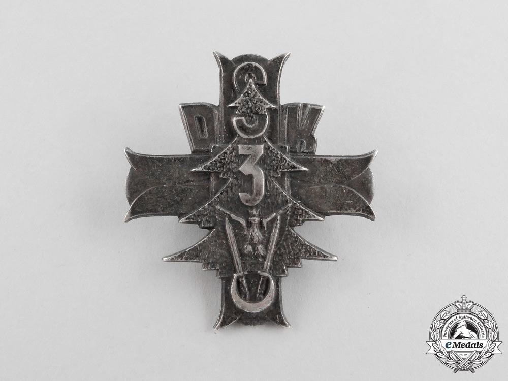 eMedals-Poland. A 3rd Carpathian Rifle Division Badge in Silver