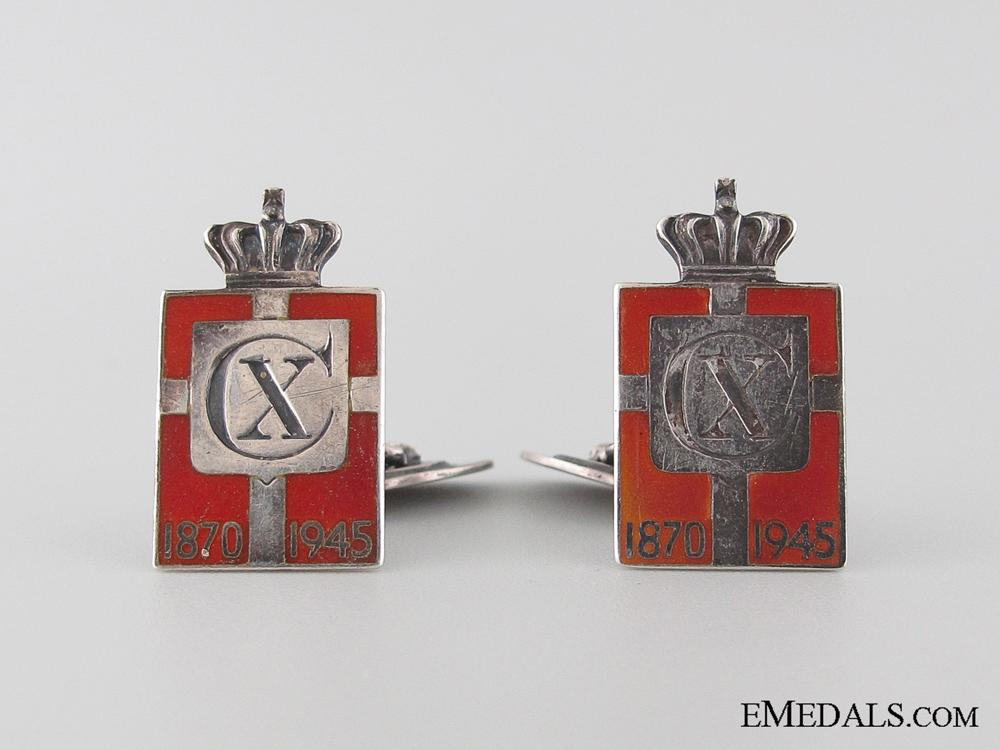 eMedals-King Christian X 75th Birthday Commemorative Cufflinks