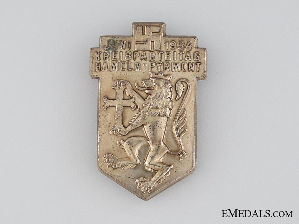 eMedals-Kreigspartietag Hamelin-Pyrmont Tinnie, June 1934