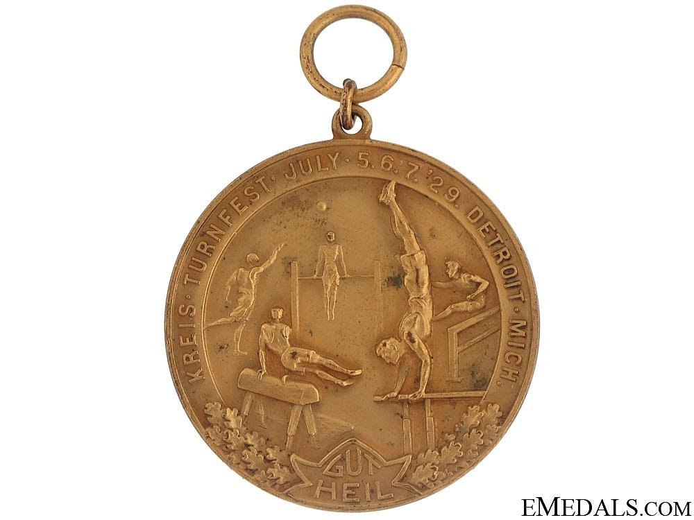 eMedals-Kreis Turnfest Medal - Detroit 1929