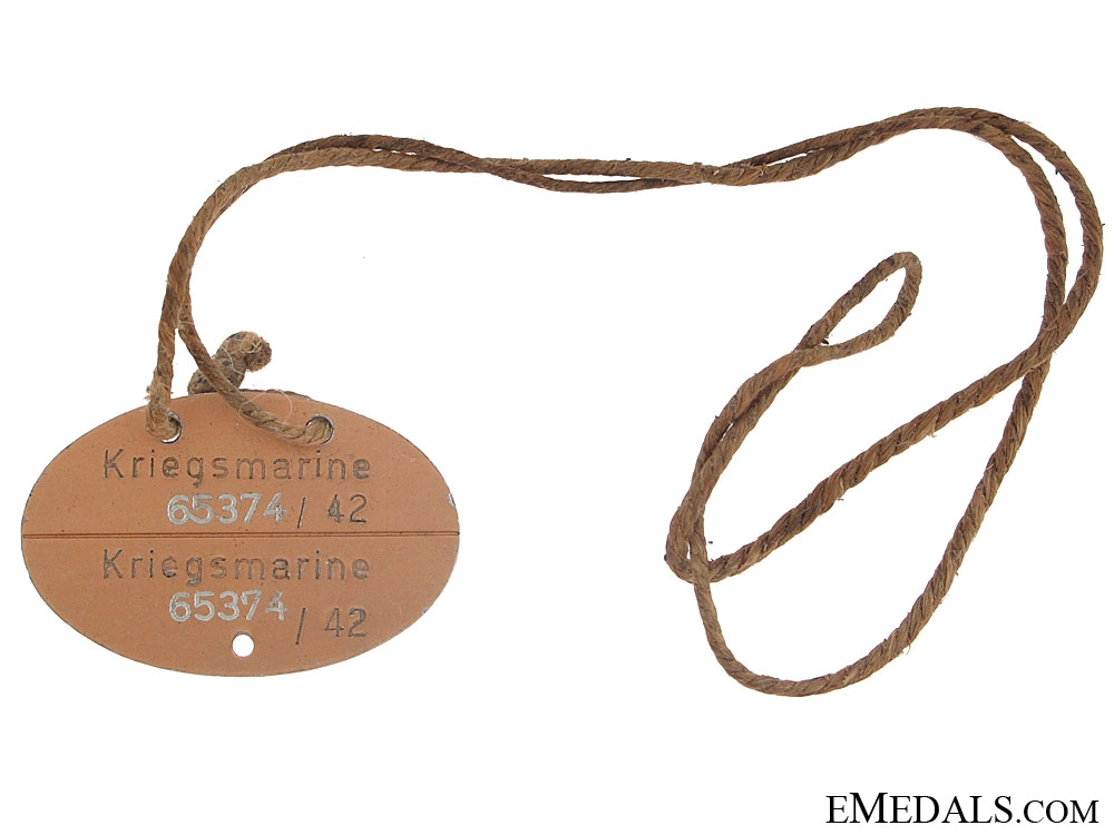 eMedals-Kriegsmarine ID/Dog Tag