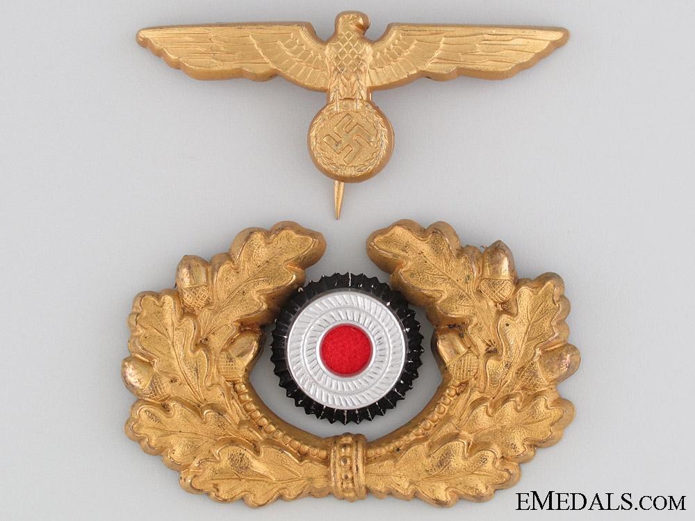eMedals-Kriegsmarine Visor Cap Insignia by Assmann