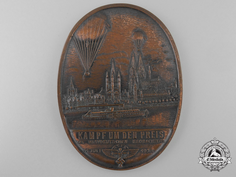 eMedals-An 1938 NSFK Balloon Plaque