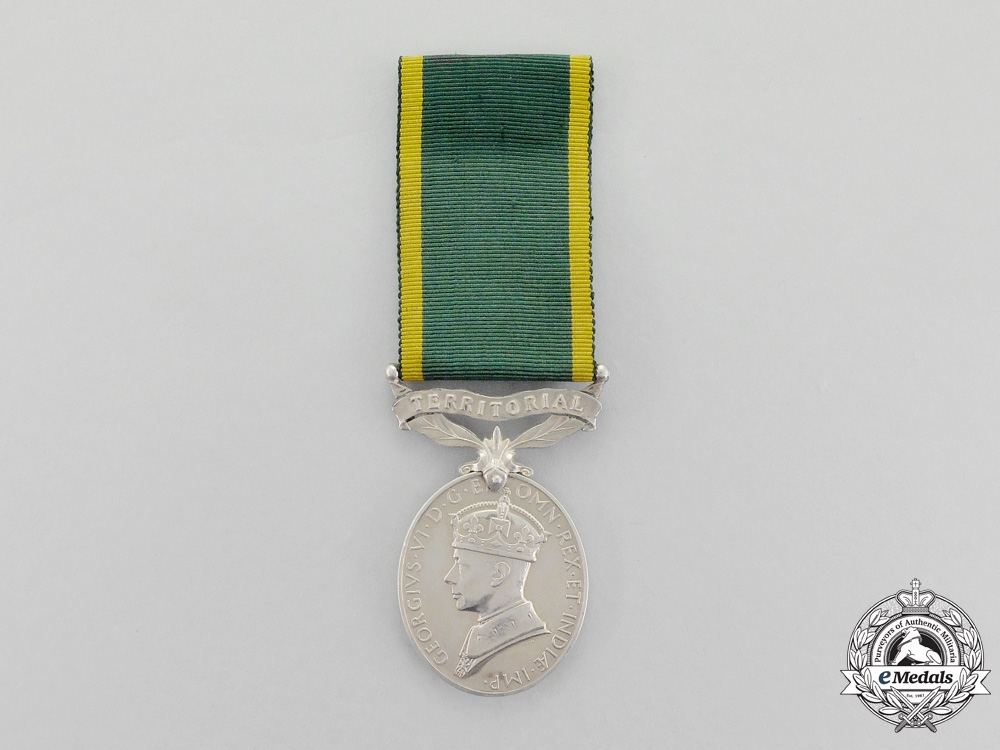 eMedals-United Kingdom. A Efficiency Medal with Territorial Scroll, to Bombardier R. Bleese, Royal Artillery