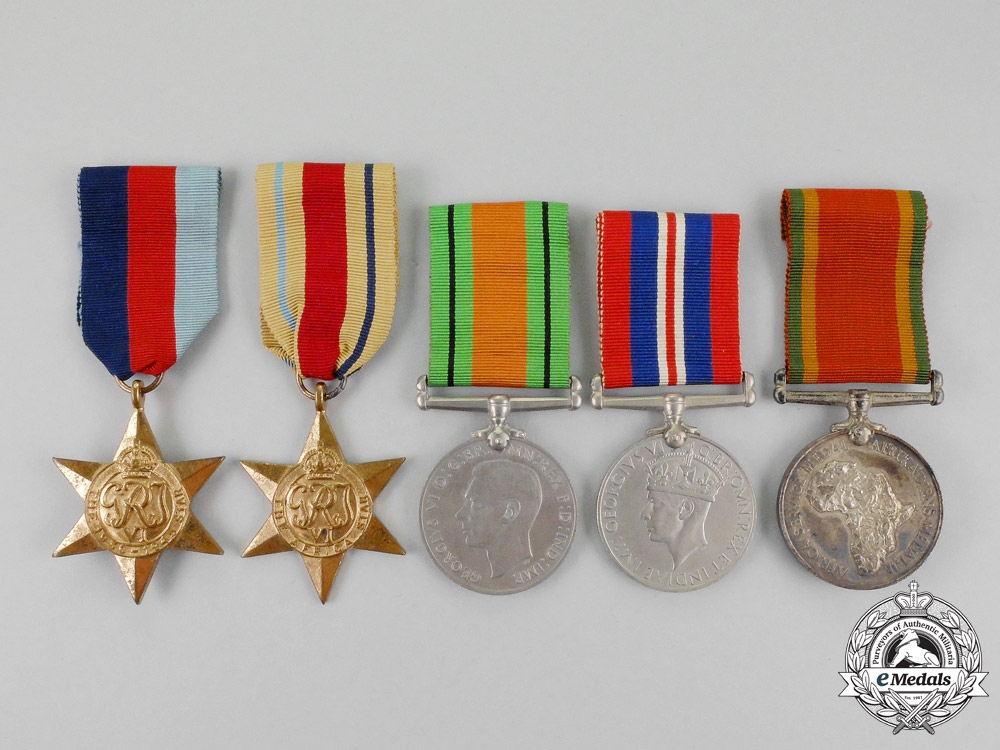 eMedals-A South African Second War Group of Five to C.J. Tait