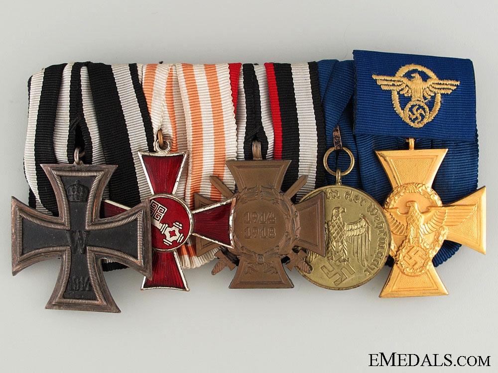 eMedals-Large Mounted Bremen Police Officer Medal Bar