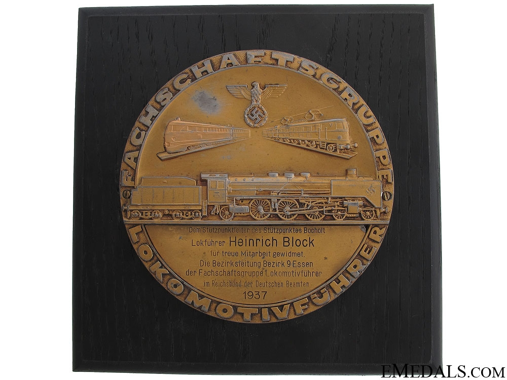eMedals-Locomotive Engineer's Long Service Award 1937