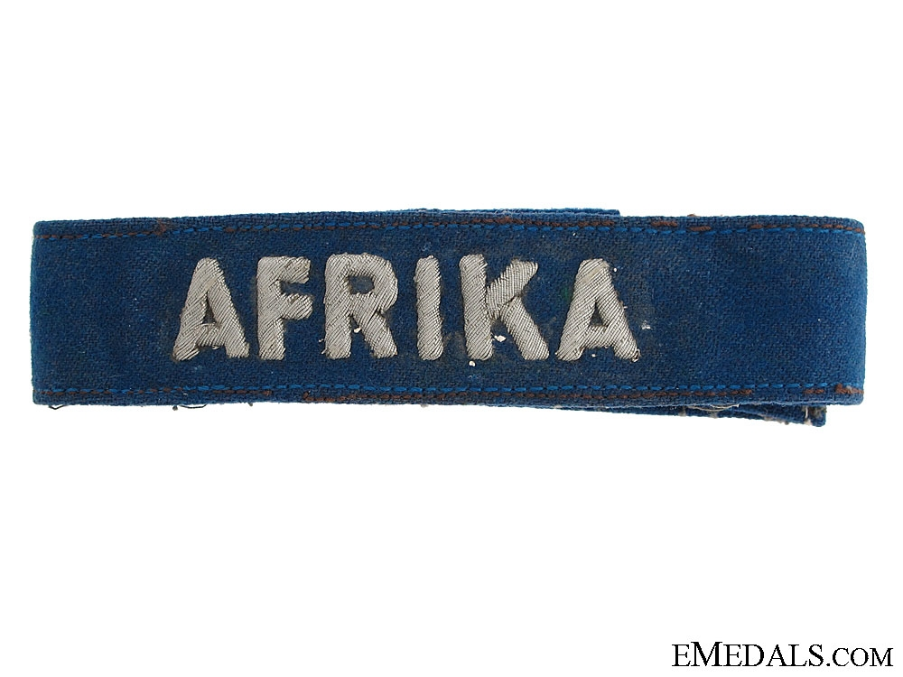 eMedals-Luftwaffe AFRIKA Cufftitle – Officer's Version