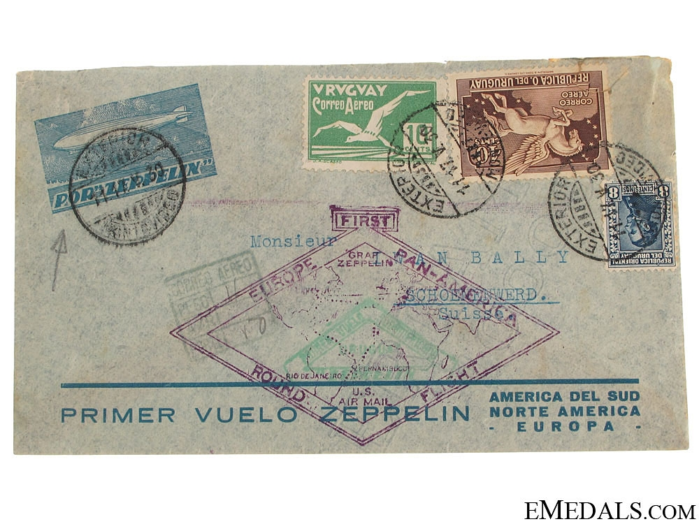 eMedals-LZ 127 Graf Zeppelin Air Mail Envelope 1930