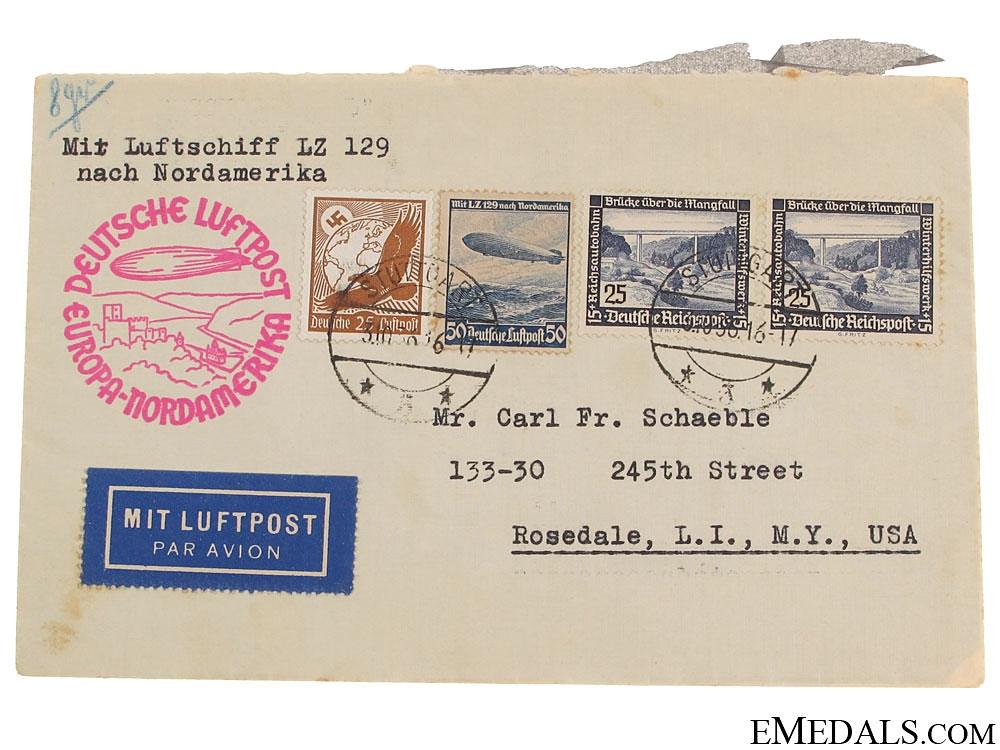 eMedals-LZ 129 Hindenburg Postcard 1936