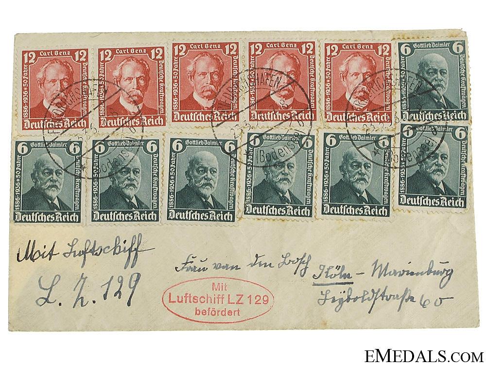 eMedals-LZ 129 Hindenburg Envelope 1936