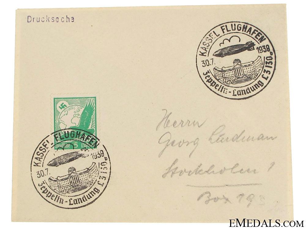 eMedals-LZ 130 Graf Zeppelin II Envelope 1939