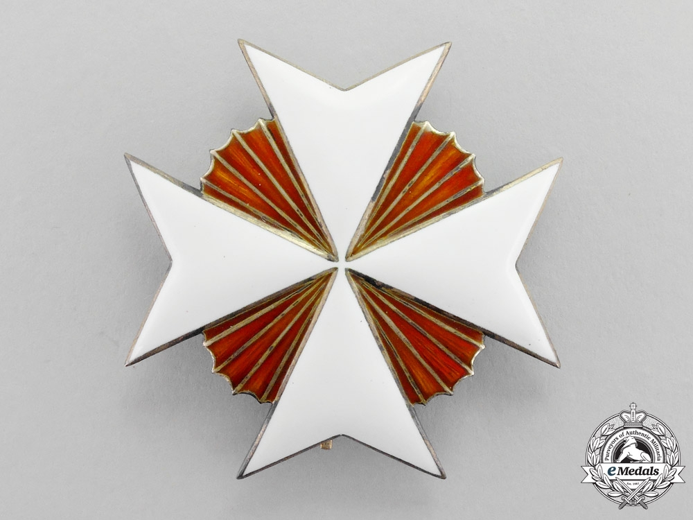 eMedals-Spain. An Order of the Knights Hospitaller of St.John, Breast Star, c.1870 by Godet