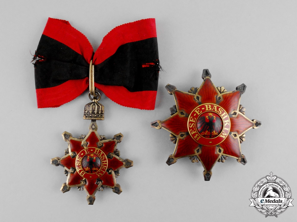 eMedals-Albania. An Order of the Black Eagle, Grand Officer's Set, c.1917
