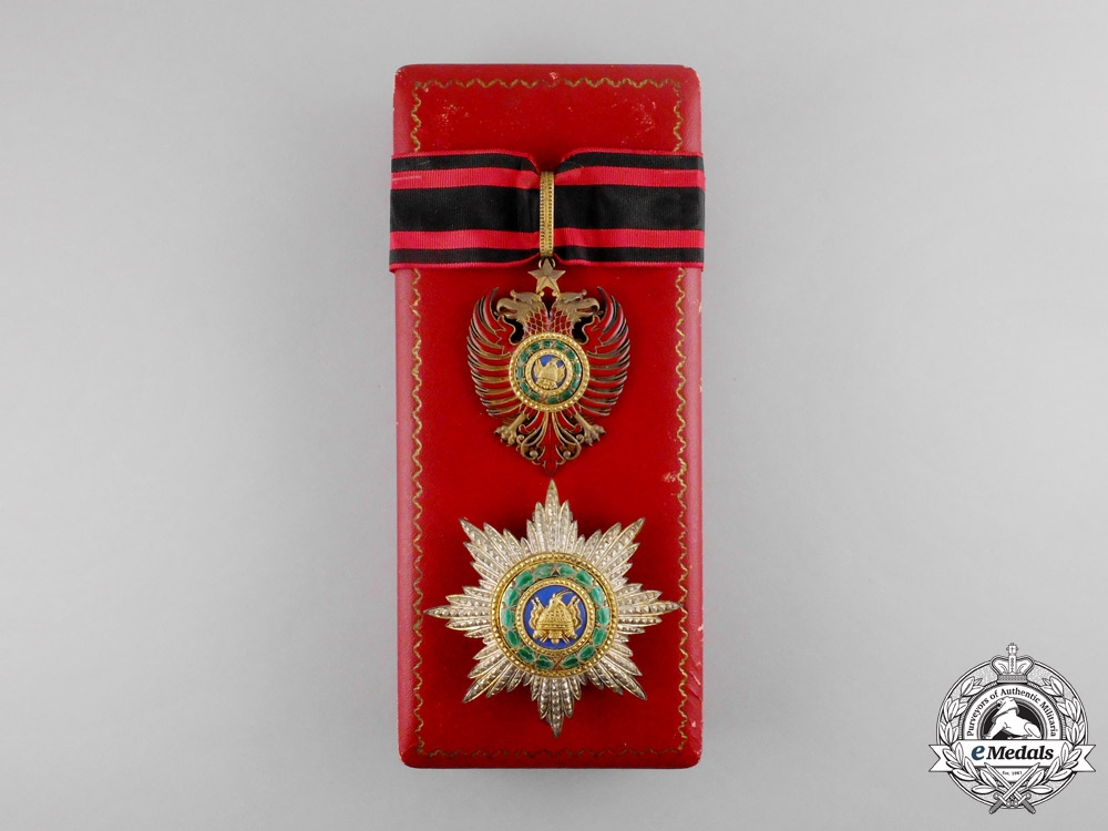 eMedals-Albania, Italian Protectorate. An Order of Scanderbeg, Grand Officer, c.1940