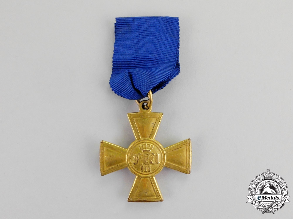 eMedals-Prussia. A 25-Year Long Service Cross for Officers, c.1840