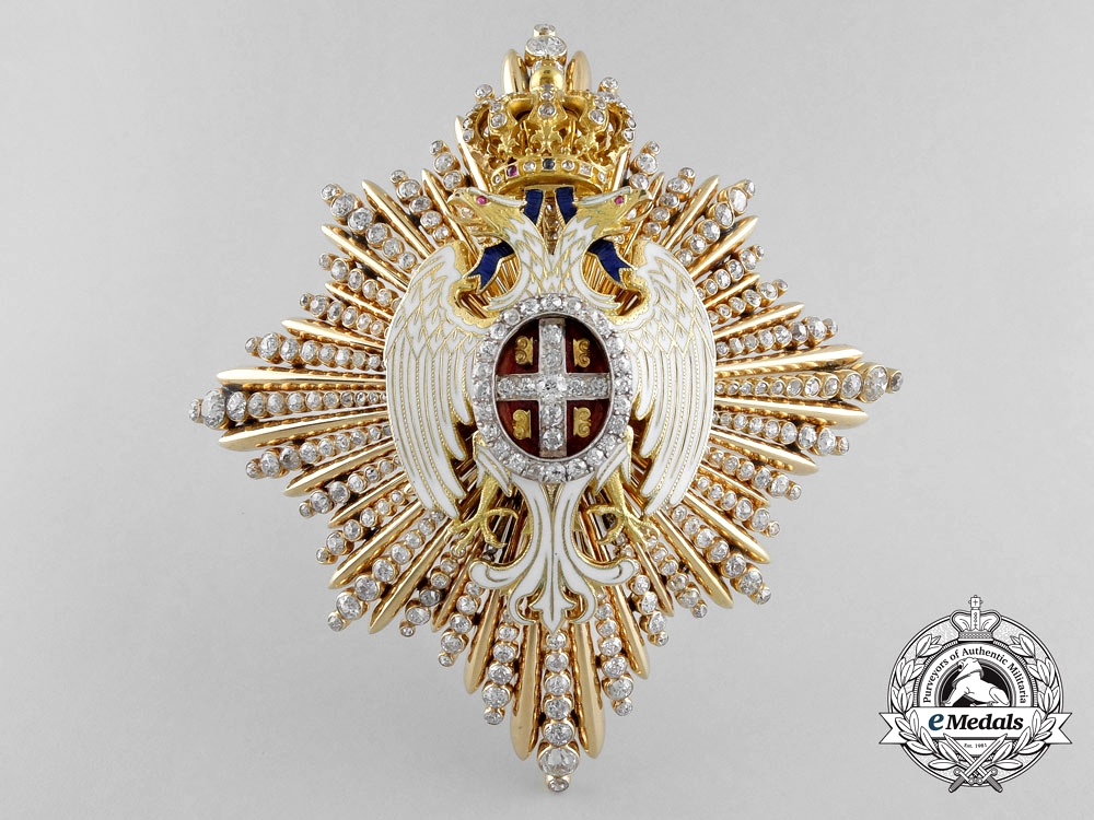 eMedals-Serbia. A Superb Order of the White Eagle in Gold & Diamonds