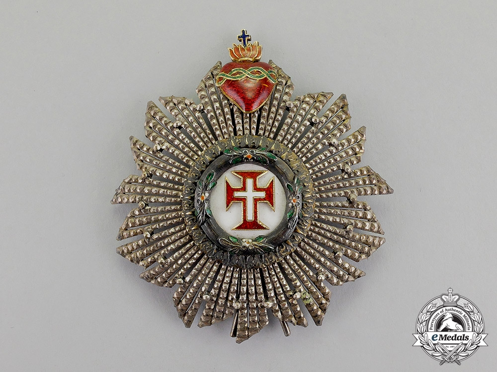 eMedals-Portugal, Kingdom. A Military Order of the Christ, Knight Commander's Star, c.1910