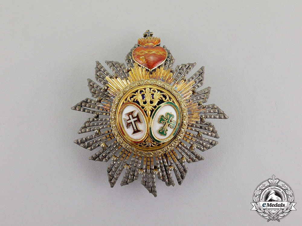 eMedals-Portugal, Kingdom. A Riband of the Two Orders, Knight Commander's Star, c.1900